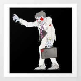 Zombie Collection: Business Man. Art Print