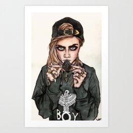 Cara Delevingne x Terry Richardson Art Print