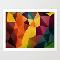 Color Poly Art Print