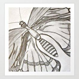 Butterfly fly away.  Art Print