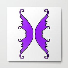 Fairy Wings Purple Metal Print