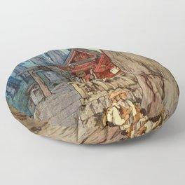 Yoshida Hiroshi - A Misty Day In Nikko - Digital Remastered Edition Floor Pillow