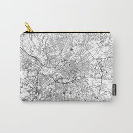 Manchester City Map United Kingdom White and Black Carry-All Pouch