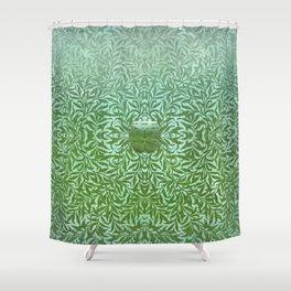 Tropical Winter, Green Jade Shower Curtain