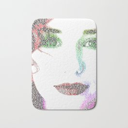 Tori Amos - word portrait Bath Mat