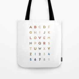 Letter Love - Color Tote Bag