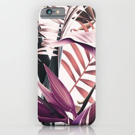 Magenta tropical iPhone Case