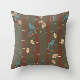 Birds In Autumn Throw Pillow