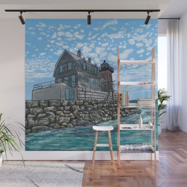 Breakwater Lighthouse Wall Mural