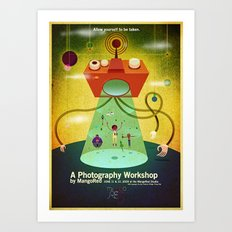 MangoRed Abduction Poster Art Print