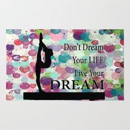 Gymnastics Live Your Dream Design Rug