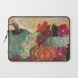 Pumpkins and Flowers Laptop Sleeve