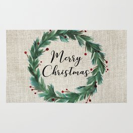 Christmas Wreath Rug