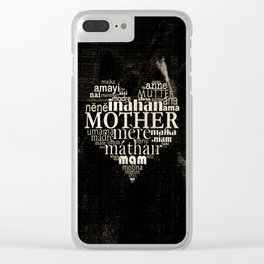 Mother (old photo) Clear iPhone Case