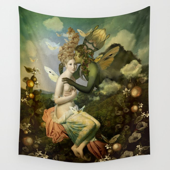 """The body, the soul and the garden of love"" Wall Tapestry"