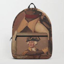 Vintage General Washington at Trenton Illustration (1875) Backpack