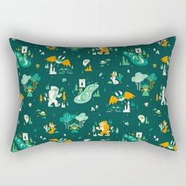 Cryptid Cuties (Bigfoot, Yeti, Jackalope, Mothman, Ghost, Loch Ness Monster) Rectangular Pillow