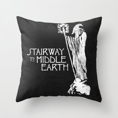 stairway to middle-earth Throw Pillow