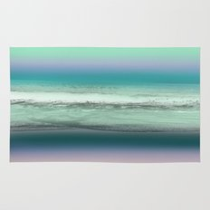 Twilight Sea in Shades of Green and Lavender Rug