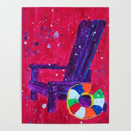 Beach Chair and Floatie Poster