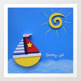 Setting Sail Boys Fun  Art Print
