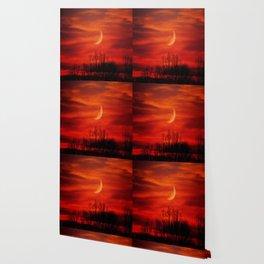 Eerie Red Sky Wallpaper
