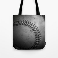 baseball Tote Bags featuring Baseball by Christy Leigh