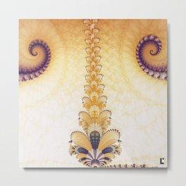 The fractal ballet Metal Print