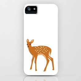 Baby Deer and Snow iPhone Case