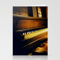 piano Stationery Cards featuring piano by Liz Morrison Smith