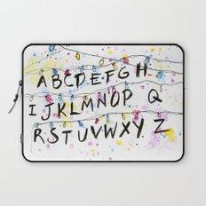 Stranger Things Alphabet Wall Christmas Lights Laptop Sleeve