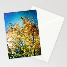 Rainbow of leaves Stationery Cards