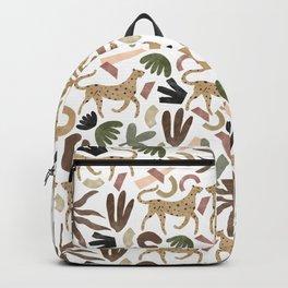 Leopards in modern nature UI Backpack