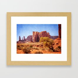 Most Interesting View of Monument Valley Framed Art Print