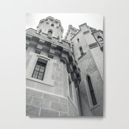 looking up at castle hluboka Metal Print