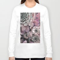 succulent Long Sleeve T-shirts featuring succulent pink by ARTbyJWP
