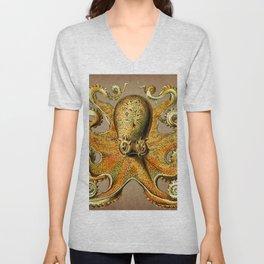 Vintage Golden Octopus Unisex V-Neck