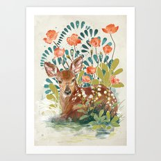 In the grass Art Print