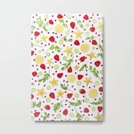 Fruits and vegetables pattern (6) Metal Print