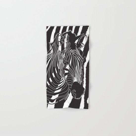 Zebra - Optical Art 5 Hand & Bath Towel