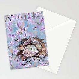 Clockwork nestling Stationery Cards