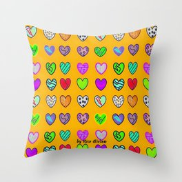 A heart for Britto by Nico Bielow Throw Pillow
