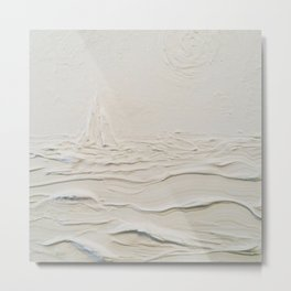 Sculpted Seascape Metal Print
