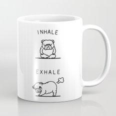 Inhale Exhale English Bulldog Mug