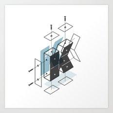 The Exploded Alphabet / K Art Print
