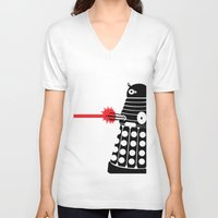mad men V-neck T-shirts featuring Dalek, Mad Men Style by Mosobot64