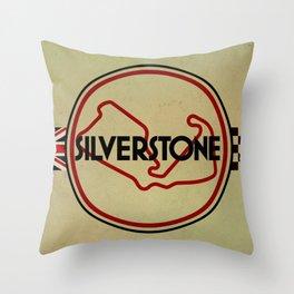 Silverstone, gentlemen racing Throw Pillow