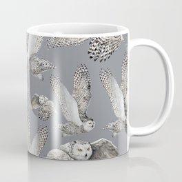 Snowy Owl in Flight 2  Coffee Mug