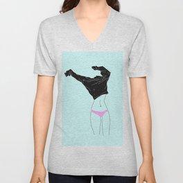 Girl Dressing Up - illustration Unisex V-Neck