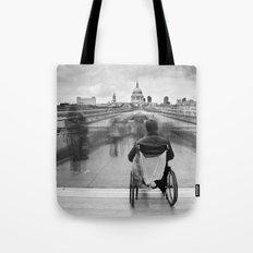 Invisible, Millennium Bridge, London Tote Bag
